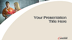 Gray Enlarged C Powerpoint template