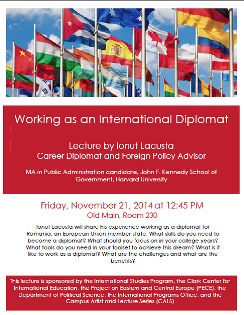 Working as an International Diplomat Poster