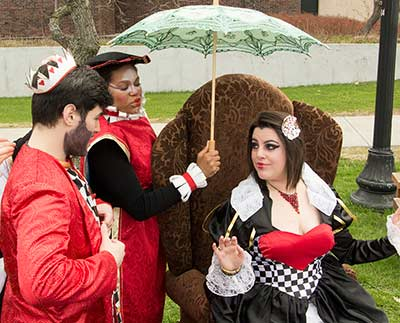 Musical Theatre majors perform the tea party scene from Alice in Wonderland