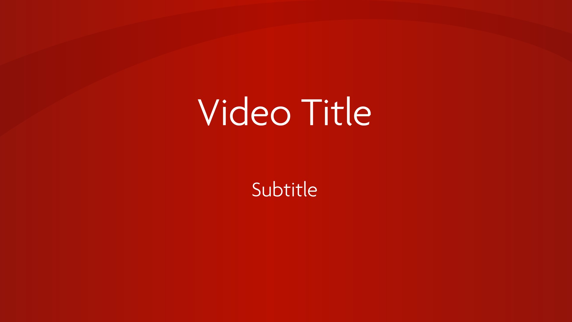Video Title Page Sample