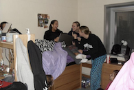 Students hanging out - link to Randall Hall Photo Gallery