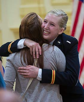 Student honored at Commissioning Ceremony