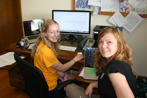 Caitlin Rasefske and Associate Professor Jena Nicols Curtis