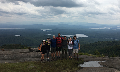 Adirondack Trail Blazers group shot on top of a mountain