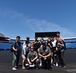 Students at New Era Field, home of the NFL's Buffalo Bills