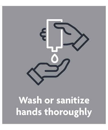 wash or sanitize hands thoroughly