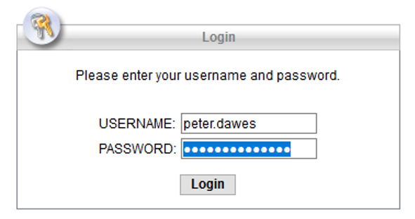 Username and password for vpn