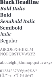 Utopia font display