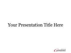 Cortland PowerPoint template with no background