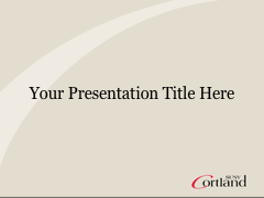 Cortland PowerPoint template with gray background on title slide