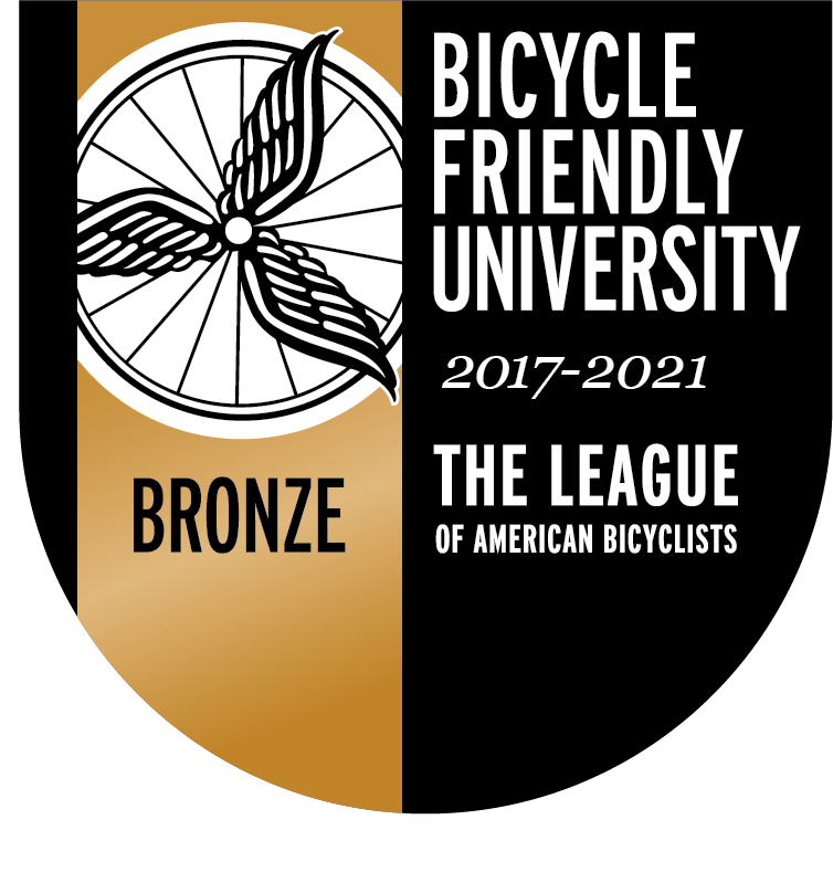 Bronze: Bicycle Friendly University 2017-2021. The League of American Bicyclists